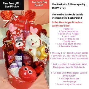 Love Bug Bath & Body Works Valentine's Basket